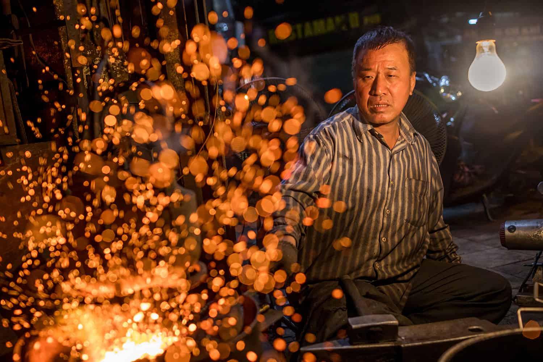 Hanoian blacksmith photograph